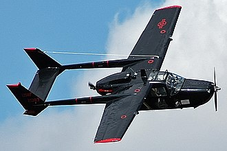 Push-pull configuration - A Cessna O-2 Skymaster, a twin boom push-pull design