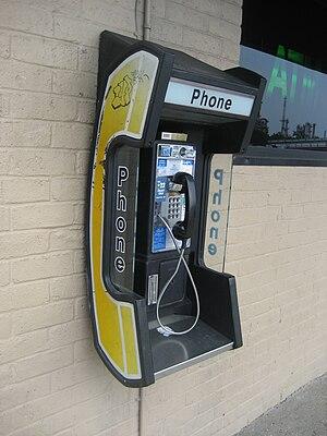 Pay telephone, Chalmette, Louisiana.