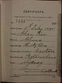 Chan Kee Auckland Chinese poll tax certificate butts Certificate issued at Auckland.jpg