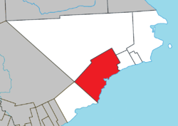 Location within Le Rocher-Percé RCM.