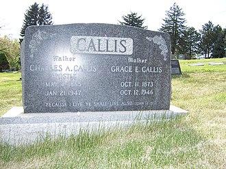Charles A. Callis - Image: Charles A Callis Grave
