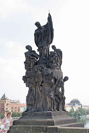 Ferdinand Brokoff - Image: Charles Bridge St Francis Xavier