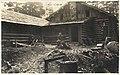 Charles Hazlehurst in front of rear side of Mountaineers lodge, Rockdale, Washington, September 5, 1914 (MOHAI 5016).jpg