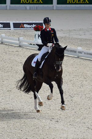 Charlotte Dujardin - Dujardin and Valegro compete  at the 2014 WEG.