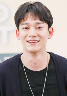 Chen at busking event in Seoul on August 31, 2019.png