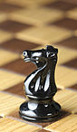 Chess piece - Black knight.JPG