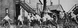 Red Summer - A white gang hunting African Americans during the Chicago Race Riot of 1919.