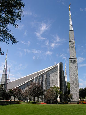 Glenview, Illinois - Image: Chicago Illinois Temple 3