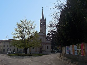 Chievo - View of the parish church of Chievo, dedicated to Saint Anthony the Abbot