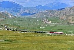China Railways passenger train K1662 on Southern Xinjiang railway 20120805.jpg