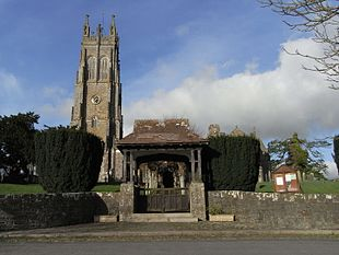 "St Hieritha's Church and <a href=""http://search.lycos.com/web/?_z=0&q=%22lychgate%22"">lychgate</a>"