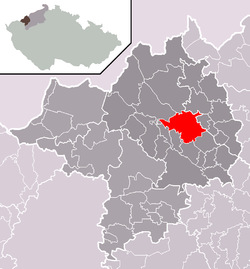 Location of Chomutov
