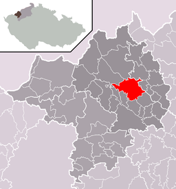 Location in Chomutov District
