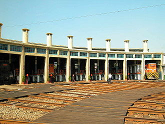 Changhua Station - Changhua roundhouse at Changhua, Taiwan, built in 1922, still remain in use now.