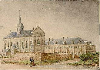 Abbey of Saint-Acheul - Church and abbey of Saint-Acheul in 1880