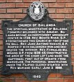 Church of Balanga historical marker.jpg