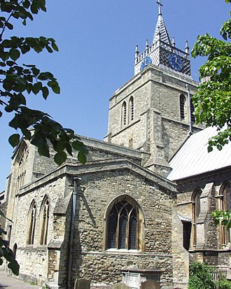 St Mary the Virgin's Church, Aylesbury - Image: Church of St Mary, Aylesbury geograph.org.uk 4572