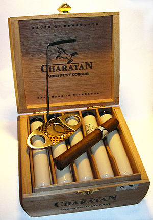 Cigar box with cigar cases
