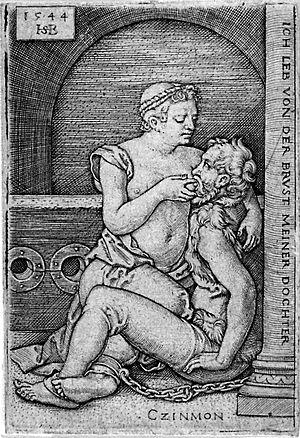 Roman Charity - Image: Cimon and Pero Hans Sebald Beham