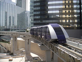 CityCenter - Photo of one of the two trams that run between the Monte Carlo and Bellagio hotels in CityCenter