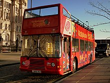 City Sightseeing Liverpool bus T2 (S855 DGX), 13 December 2011.jpg