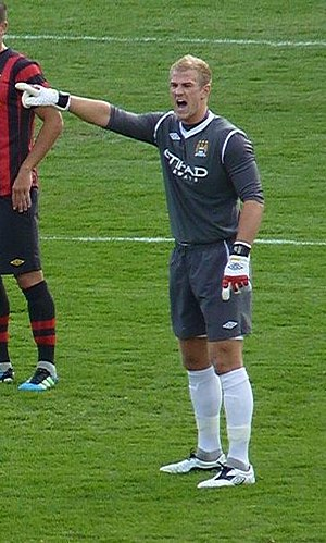 Joe Hart - Hart playing for Manchester City in 2011