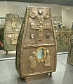 Cividale, museo cristiano, capsella per reliquie, lamina d'argento sbalzata, fine VIII-inizio IX secolo.JPG