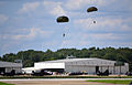 Civilian paratroopers with the Liberty Jump Team approach their landing zone during a rehearsal at Campbell Army Airfield on Fort Campbell, Ky., Aug. 10, 2012 120810-A-ZT847-591.jpg
