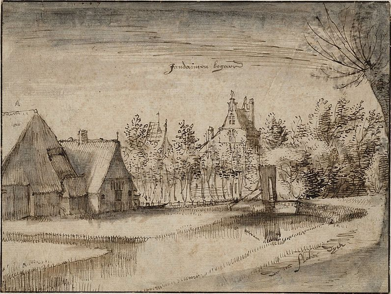 Bestand:Claes Jansz. Visscher (II) - Jan Deyman's Country House and Orchard - WGA25141.jpg