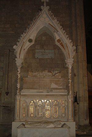 San Francesco, Viterbo - Image: Clemente IV lapide