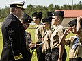Cmdr. Christopher Serow, commanding officer of Naval Support Activity Panama City, inspects cadets.jpg