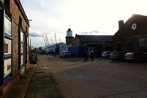 Trinity Buoy Wharf - Image: Cmglee Trinity Buoy Wharf entrance