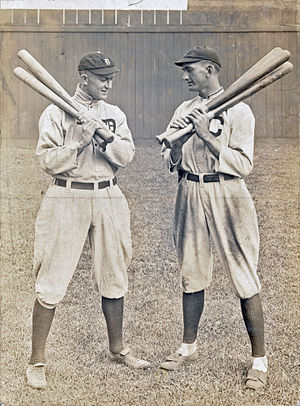 Shoeless Joe Jackson - Ty Cobb and Joe Jackson in Cleveland in 1913