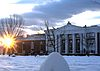 Cocke Hall UVa sunset snow 2010.jpg