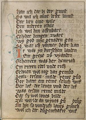 Luxembourg literature - Codex Mariendalensis (c. 1310)