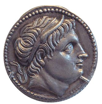 Demetrius I of Macedon - Demetrius I Poliorcetes portrayed on a tetradrachm coin
