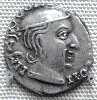 Jivadaman - Coin of the Western Kshatrapa ruler Jivadaman, dated year 119 Saka era, thought to be 197 CE. British Museum.