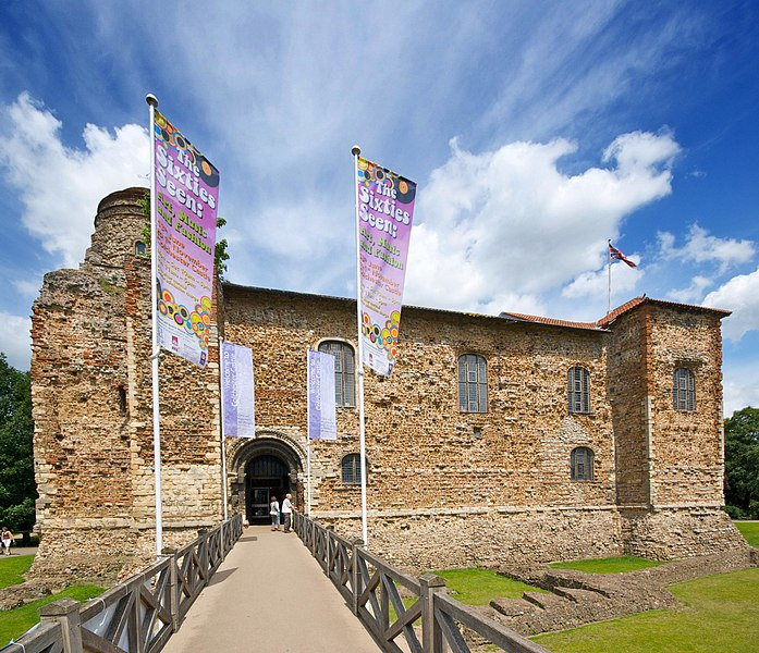 Colchester Castle in Colchester, Essex. Taken with a Nikon D40x and a Sigma 10-20mm wide-angle lens.