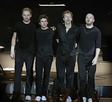 Coldplay, s lijeva na desno: Jonny Buckland, Guy Berryman, Chris Martin i Will Champion