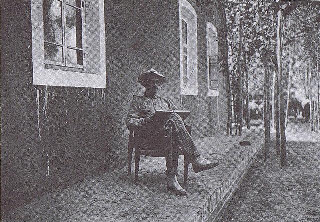 Полковник барон К. Г.-Э. Маннергейм в русском консульстве. Кашгар, сентябрь 1906г.