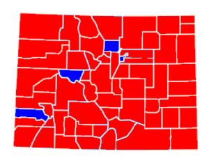 United States Senate election in Colorado, 1998 - Image: Colorado 1998 senate
