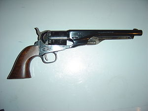 Reproduction of a Colt Model 1860 Navy Revolver.