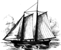 Columbia bar pilot schooner California in 1853.png