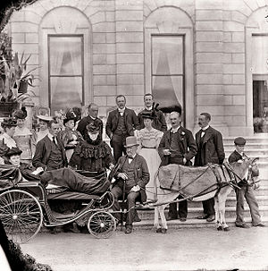 John Beresford, 5th Marquess of Waterford - Coming of Age Celebrations for 6th Marquess of Waterford showing the dowager Lady Waterford's carriage.  Also shown are her parents the Duke and Duchess of Beaufort.