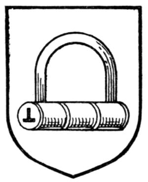 Fetterlock - A generic fetterlock from A.C. Fox-Davies's Complete Guide to Heraldry