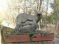 Concrete otter on gatepost - geograph.org.uk - 1592267.jpg
