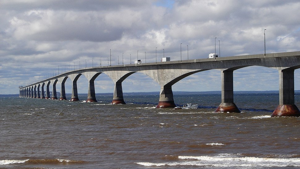 Confederation Bridge from Prince Edward Island 16x9