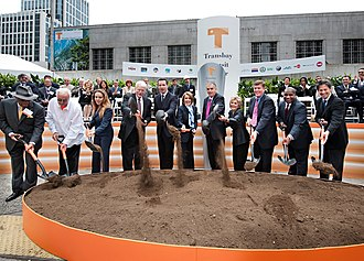 Salesforce Transit Center - Groundbreaking ceremony in 2010