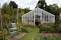 Conservatory greenhouse in Walled Garden of Goodnestone Park Kent England.jpg