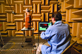 Consumer Reports - product testing - headphones in anechoic chamber.tif